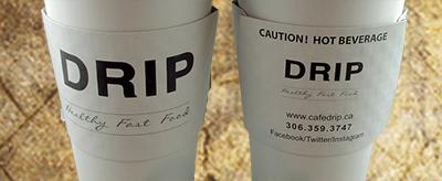 black and white coffee sleeve printing