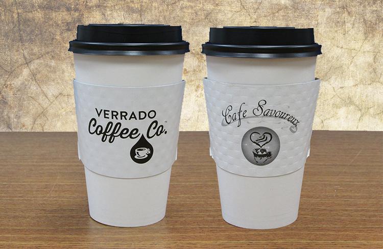 white coffee sleeves