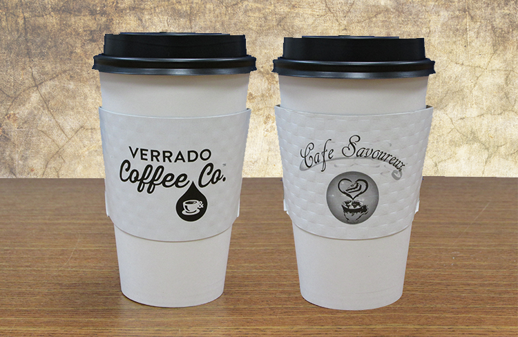 white coffee sleeves