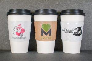 1 and 2 color coffee sleeve printig